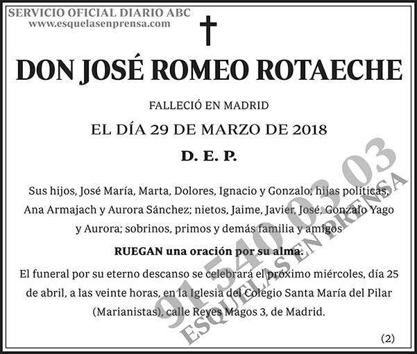 José Romero Rotaeche